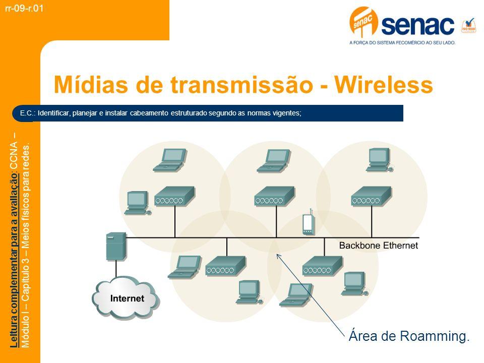 Mídias de transmissão - Wireless rr-09-r.01 E.C.: Identificar, planejar e instalar cabeamento estruturado segundo as normas vigentes; Leitura compleme