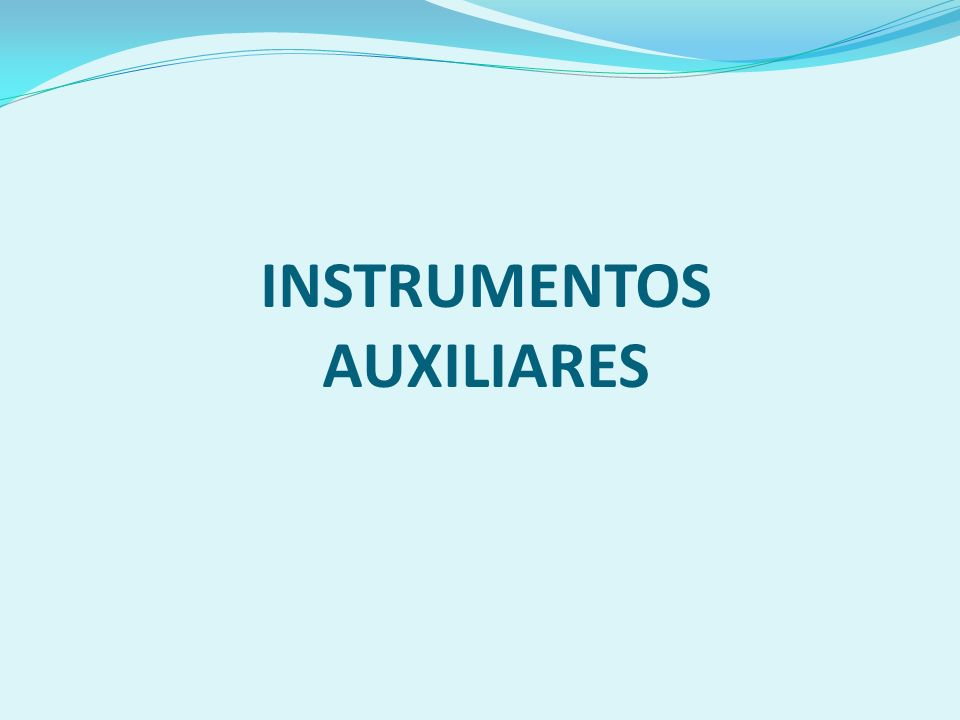 INSTRUMENTOS AUXILIARES