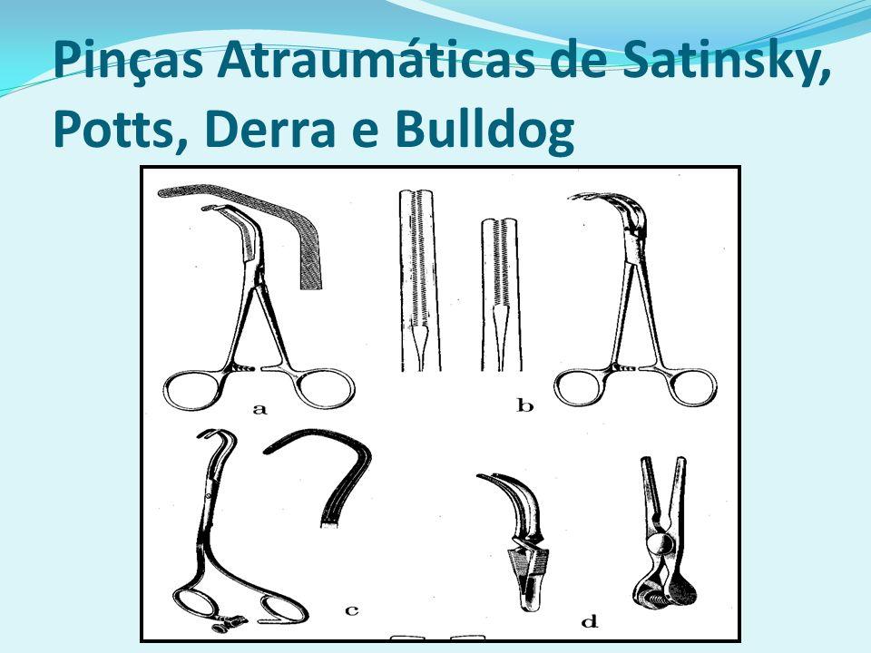 Pinças Atraumáticas de Satinsky, Potts, Derra e Bulldog