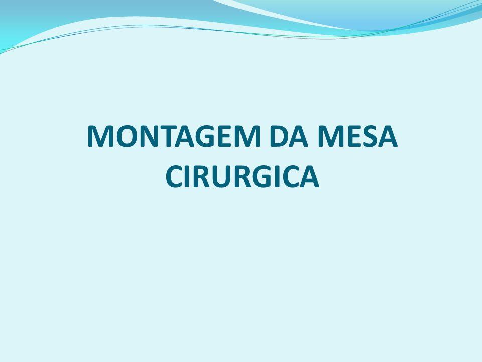 MONTAGEM DA MESA CIRURGICA