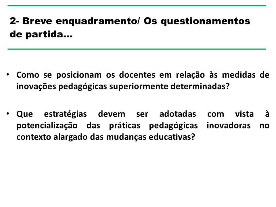 Como se posicionam os docentes em relação às medidas de inovações pedagógicas superiormente determinadas.