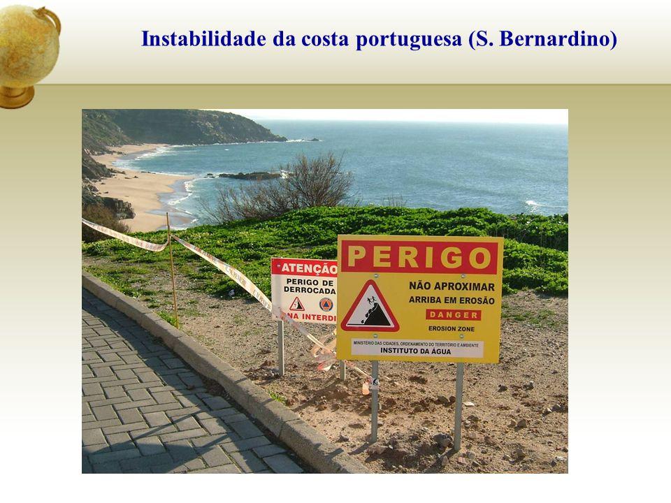 Instabilidade da costa portuguesa (S. Bernardino)