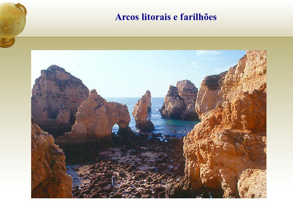Arcos litorais e farilhões
