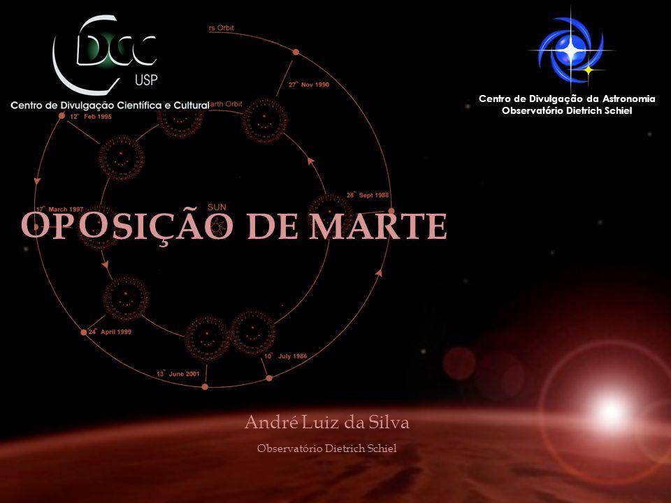 P SIÇÃO DE MARTE Centro de Divulgação da Astronomia Observatório Dietrich Schiel André Luiz da Silva Observatório Dietrich Schiel OO