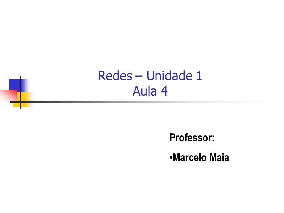 Redes – Unidade 1 Aula 4 Professor: Marcelo Maia