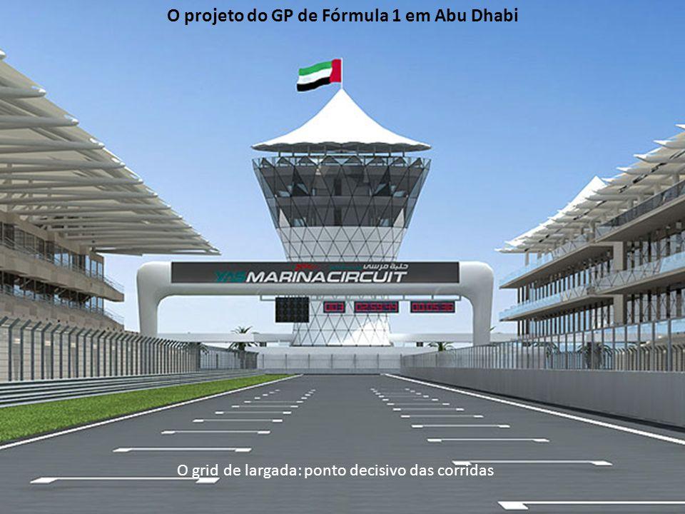 O grid de largada: ponto decisivo das corridas O projeto do GP de Fórmula 1 em Abu Dhabi
