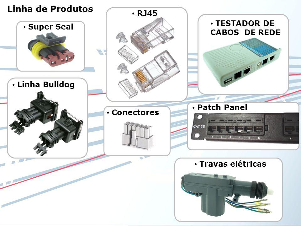 RJ45 Super Seal Conectores Linha Bulldog TESTADOR DE CABOS DE REDE Patch Panel Travas elétricas Linha de Produtos