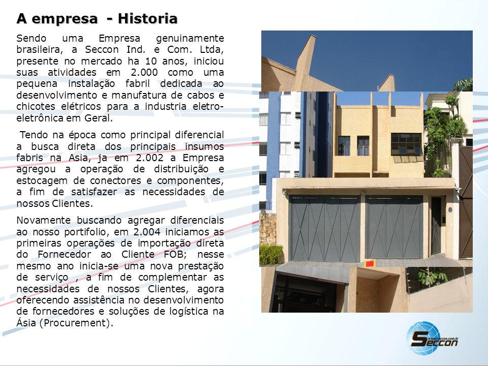 A empresa - Historia Sendo uma Empresa genuinamente brasileira, a Seccon Ind. e Com. Ltda, presente no mercado ha 10 anos, iniciou suas atividades em