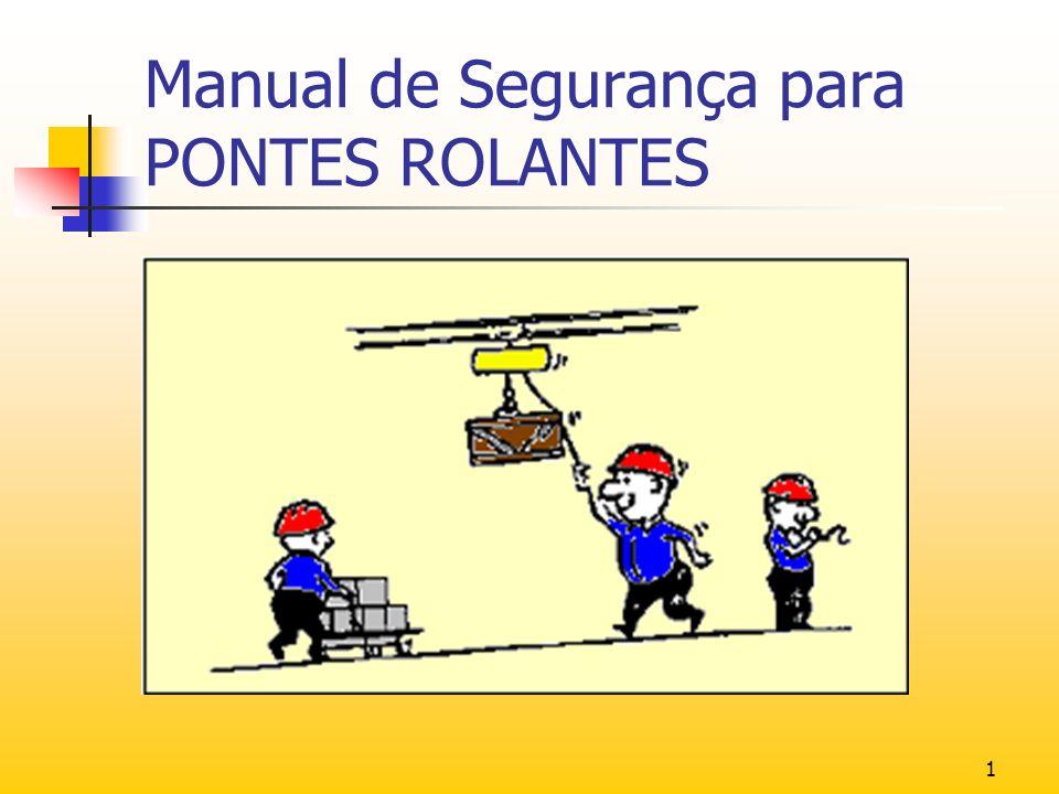 2 Este manual tem como objetivo instruir o operador de Ponte Rolante quanto a necessidade de minimizar ao máximo possibilidades de acidentes durante seu manuseio.
