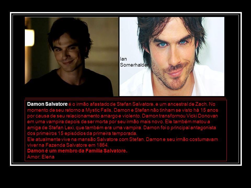Damon Salvatore é o irmão afastado de Stefan Salvatore, e um ancestral de Zach. No momento de seu retorno a Mystic Falls, Damon e Stefan não tinham se
