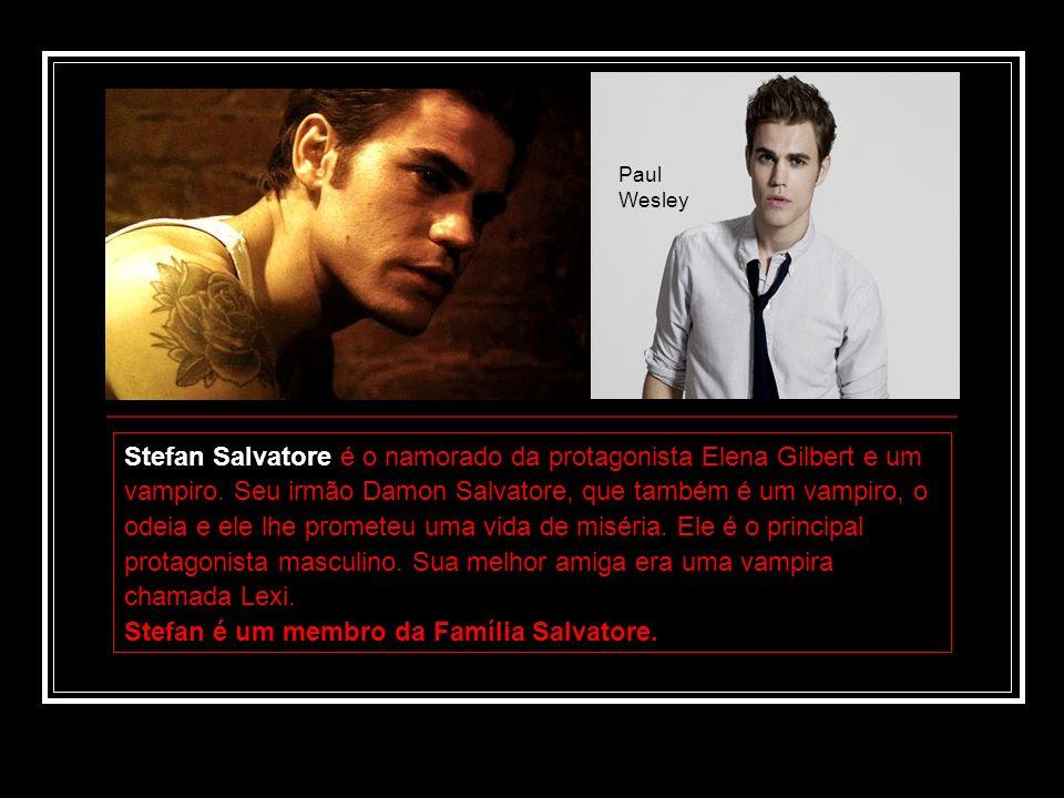 Stefan Salvatore é o namorado da protagonista Elena Gilbert e um vampiro. Seu irmão Damon Salvatore, que também é um vampiro, o odeia e ele lhe promet