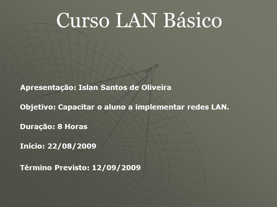 Curso LAN Básico Introdução Ligação: - Ponto-a-ponto (WANs, linhas dedicadas); - Difusão ou broadcast.