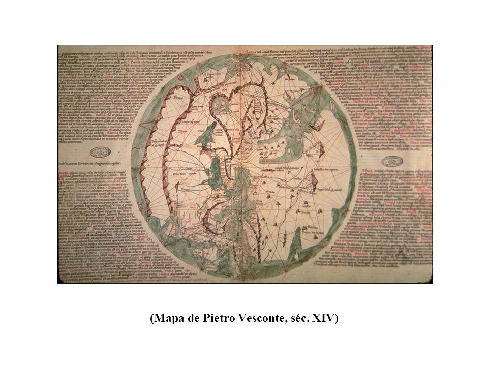 (Mapa de Pietro Vesconte, séc. XIV)
