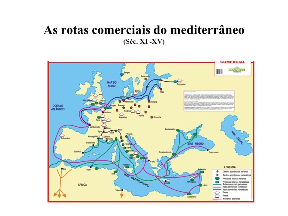 As rotas comerciais do mediterrâneo (Séc. XI -XV)