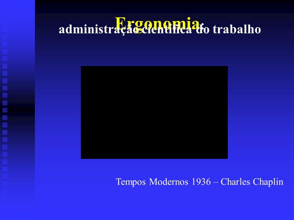 Ergonomia : administração científica do trabalho Tempos Modernos 1936 – Charles Chaplin
