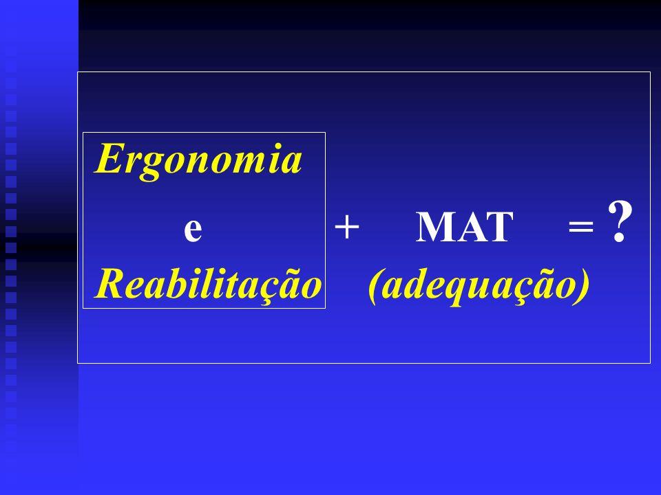 Ergonomia e + MAT = ? Reabilitação (adequação)