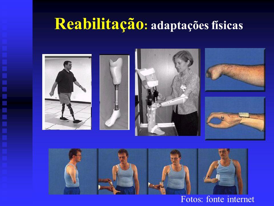 Reabilitação : adaptações físicas Fotos: fonte internet