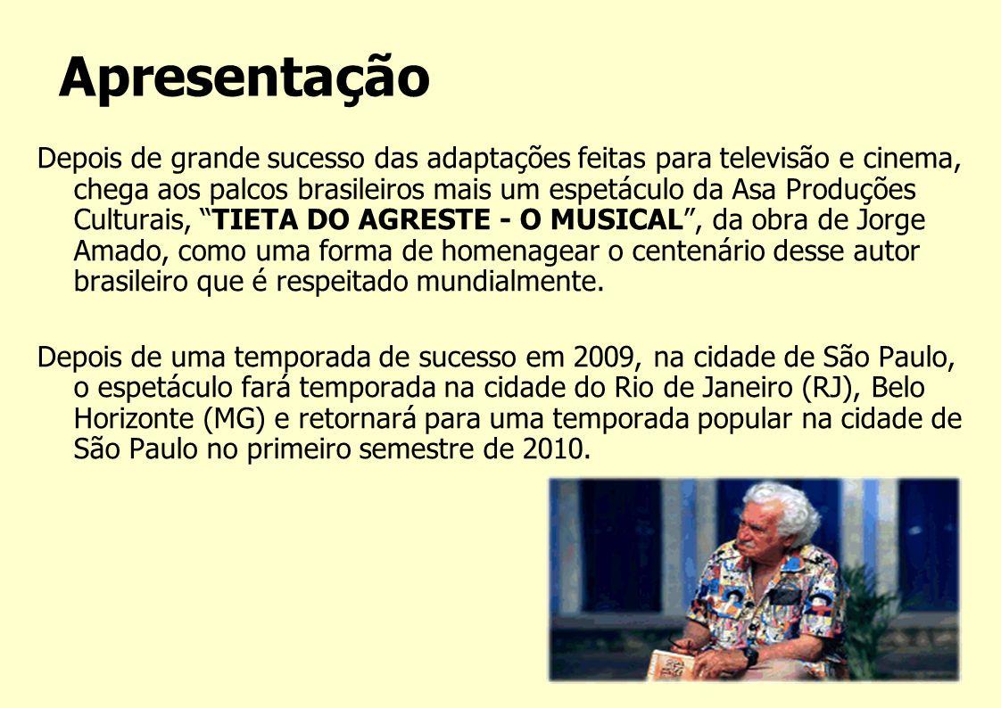 Depois de grande sucesso das adaptações feitas para televisão e cinema, chega aos palcos brasileiros mais um espetáculo da Asa Produções Culturais, TI