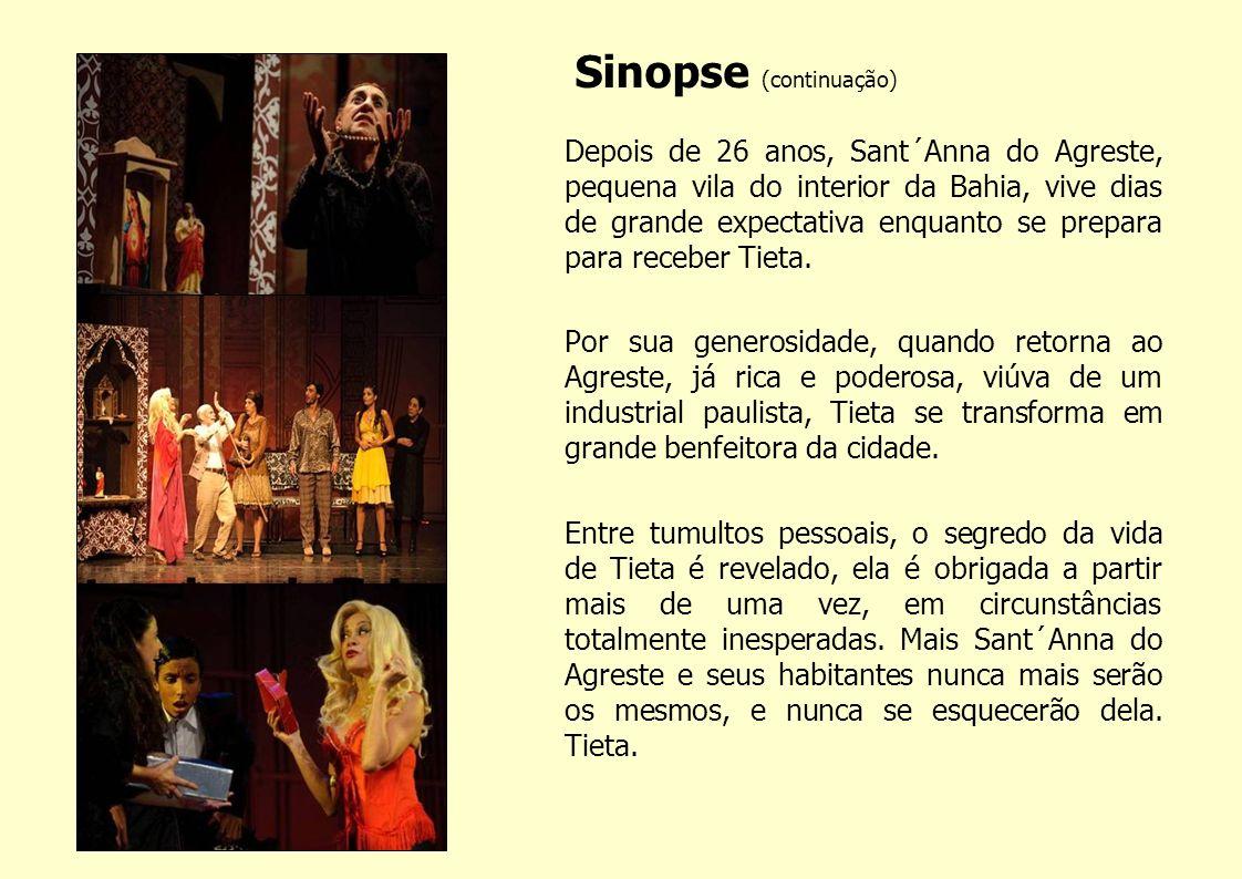 Objetivo TIETA DO AGRESTE integra o projeto Grandes Autores Brasileiros, que tem por finalidade a adaptação e montagem para o teatro de obras conhecidas de vários autores brasileiros.