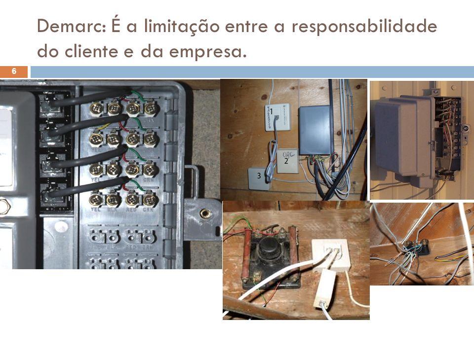 Demarc: É a limitação entre a responsabilidade do cliente e da empresa. 6