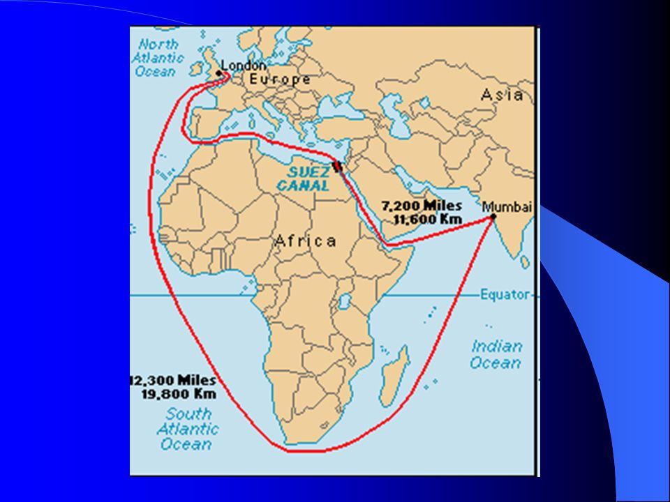 IMPERIALISMO INGLÊS NA ÁFRICA CANAL SUEZ – controle acionário: França e Egito; – 1875:Inglaterra compra as ações do Egito – 1904: franceses abandonam