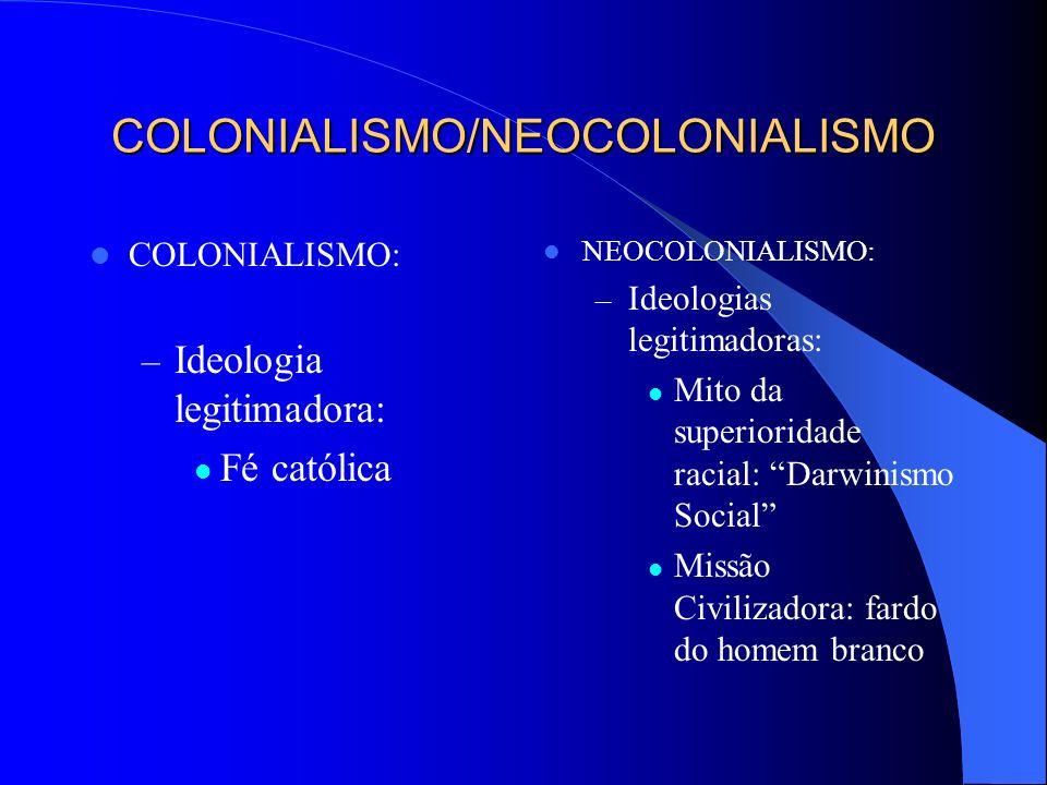 COLONIALISMO – NEOCOLONIALISMO (Século XVI - Século XIX) COLONIALISMO: – Capitalismo Comercial (mercantilismo); – Objetivos: especiarias, produtos tro
