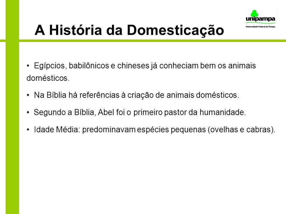 A História da Domesticação Egípcios, babilônicos e chineses já conheciam bem os animais domésticos. Na Bíblia há referências à criação de animais domé