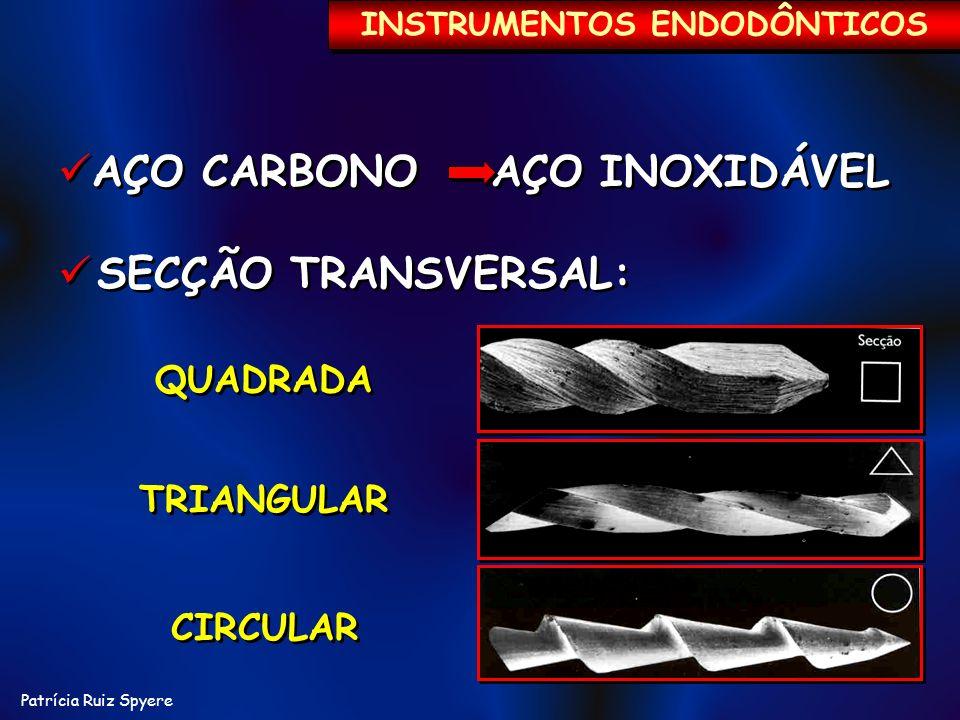 Patrícia Ruiz Spyere AÇO CARBONO AÇO INOXIDÁVEL SECÇÃO TRANSVERSAL: AÇO CARBONO AÇO INOXIDÁVEL SECÇÃO TRANSVERSAL: QUADRADA QUADRADA TRIANGULAR TRIANG