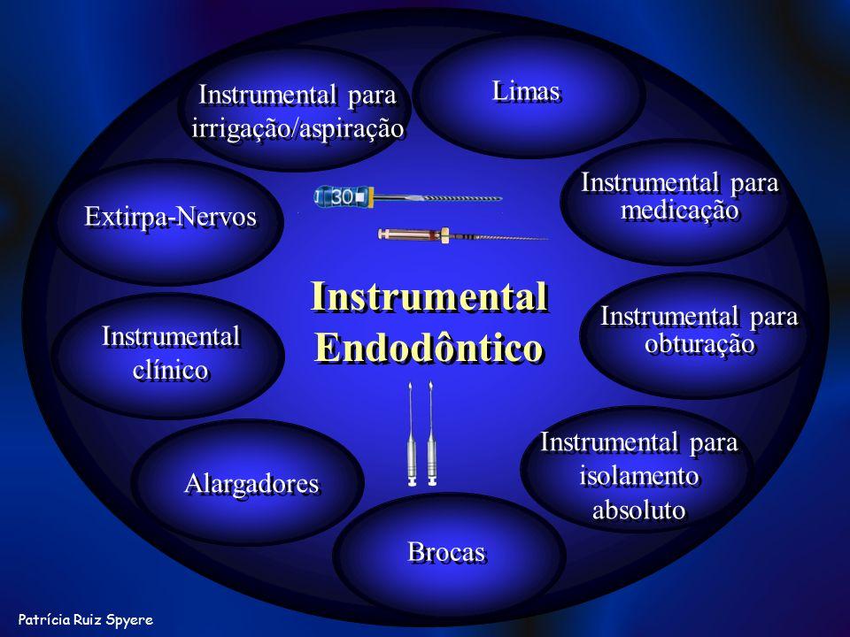 Patrícia Ruiz Spyere Instrumental Endodôntico Limas Instrumental para medicação Instrumental para irrigação/aspiração Instrumental para obturação Alar