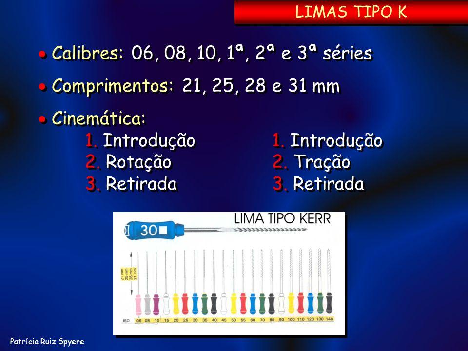 Patrícia Ruiz Spyere Calibres: 06, 08, 10, 1ª, 2ª e 3ª séries Comprimentos: 21, 25, 28 e 31 mm Cinemática: 1. Introdução1. Introdução 2. Rotação2. Tra