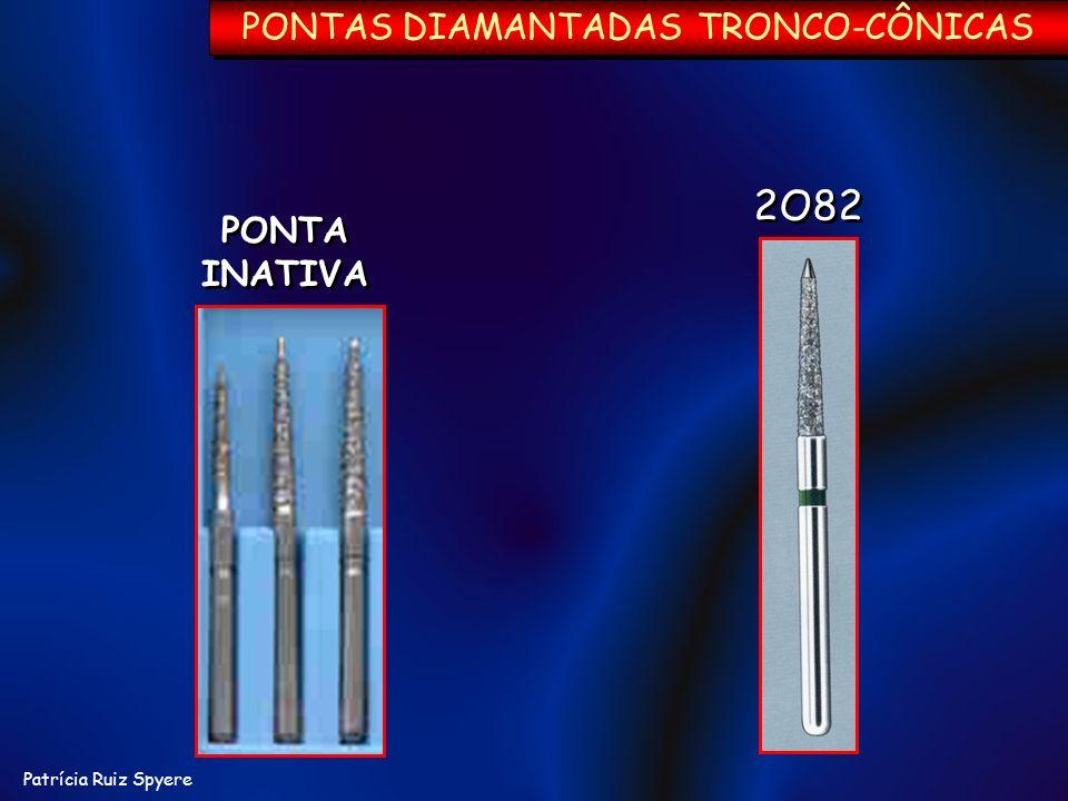 Patrícia Ruiz Spyere PONTA INATIVA PONTA INATIVA 2O82 PONTAS DIAMANTADAS TRONCO-CÔNICAS