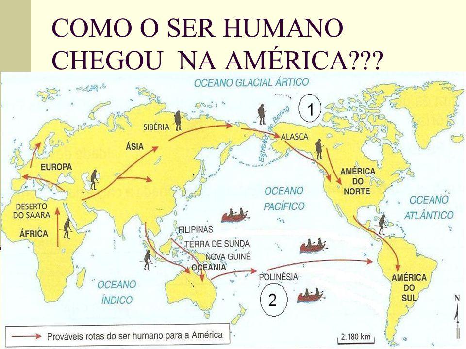 COMO O SER HUMANO CHEGOU NA AMÉRICA???