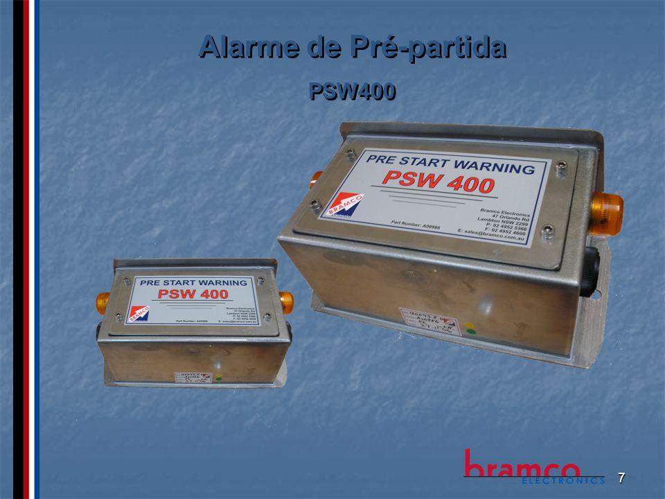 8 Conexão entre Chave de Emergência e Alarme de Pré-partida CABO DE SINAL BRAMBUS CABO DE CONTROLE PSW ALIMENTAÇÃO PSW 48VCC CABO DE SINAL BRAMBUS ALIMENTAÇÃO PSW 48VCC
