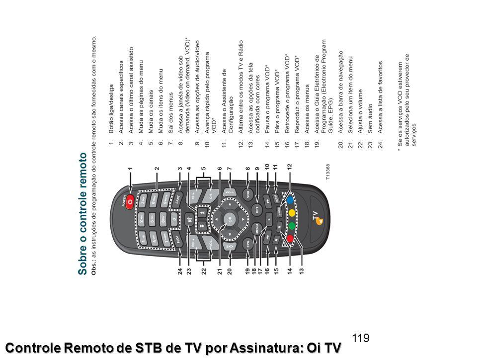 119 Controle Remoto de STB de TV por Assinatura: Oi TV