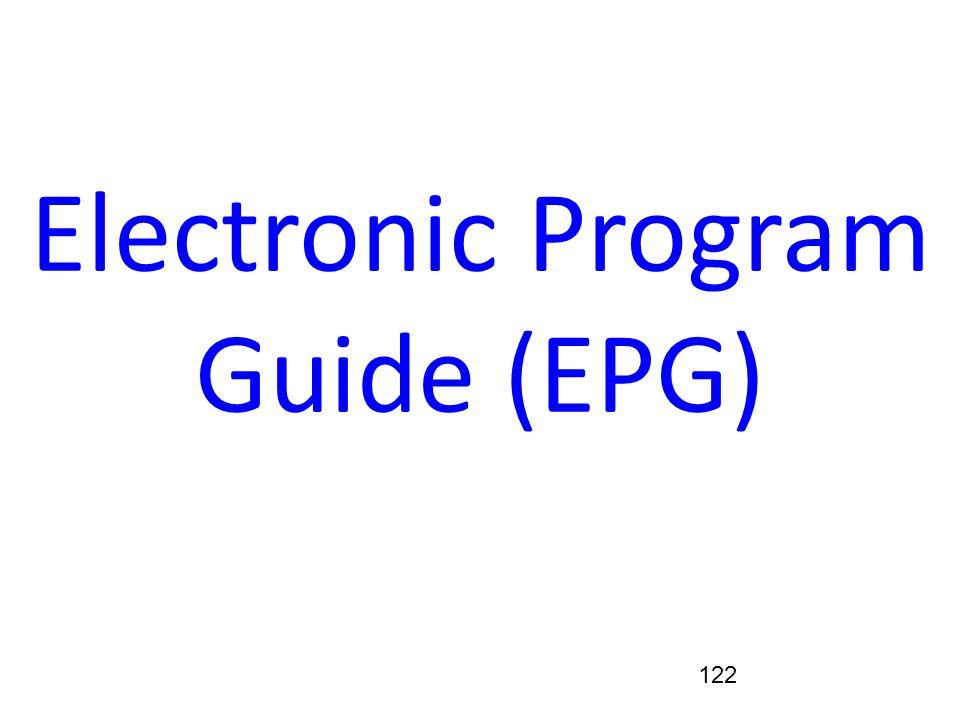 122 Electronic Program Guide (EPG)