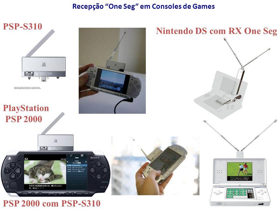 Recepção One Seg em Consoles de Games PSP-S310 PSP 2000 com PSP-S310 Nintendo DS com RX One Seg PlayStation PSP 2000