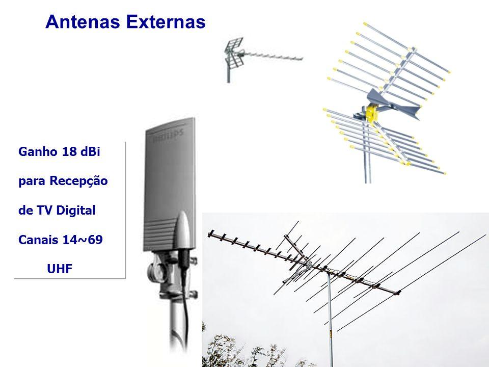 Ganho 18 dBi para Recepção de TV Digital Canais 14~69 UHF Antenas Externas