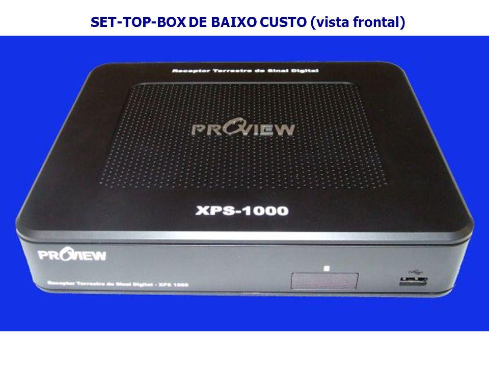 SET-TOP-BOX DE BAIXO CUSTO (vista frontal)