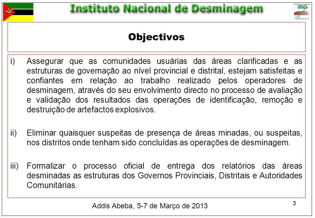 3 i)Assegurar que as comunidades usuárias das áreas clarificadas e as estruturas de governação ao nível provincial e distrital, estejam satisfeitas e