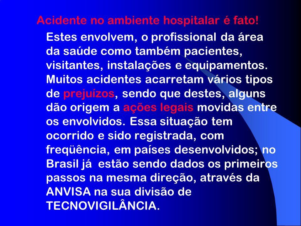 Acidente no ambiente hospitalar é fato.