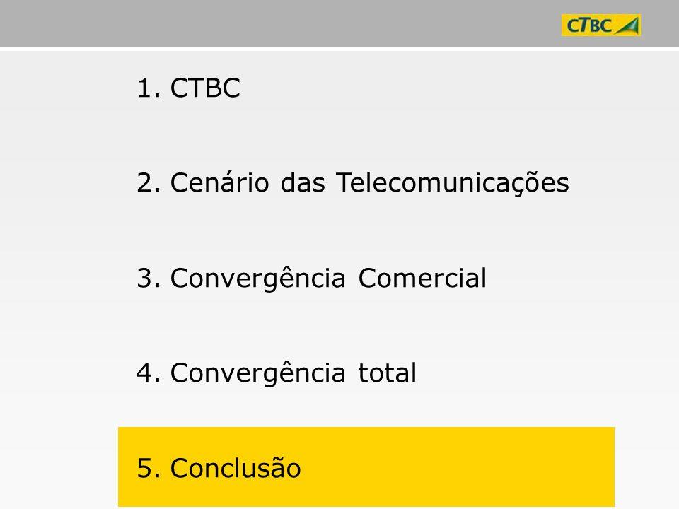 1.CTBC 2.Cenário das Telecomunicações 3.Convergência Comercial 4.Convergência total 5.Conclusão