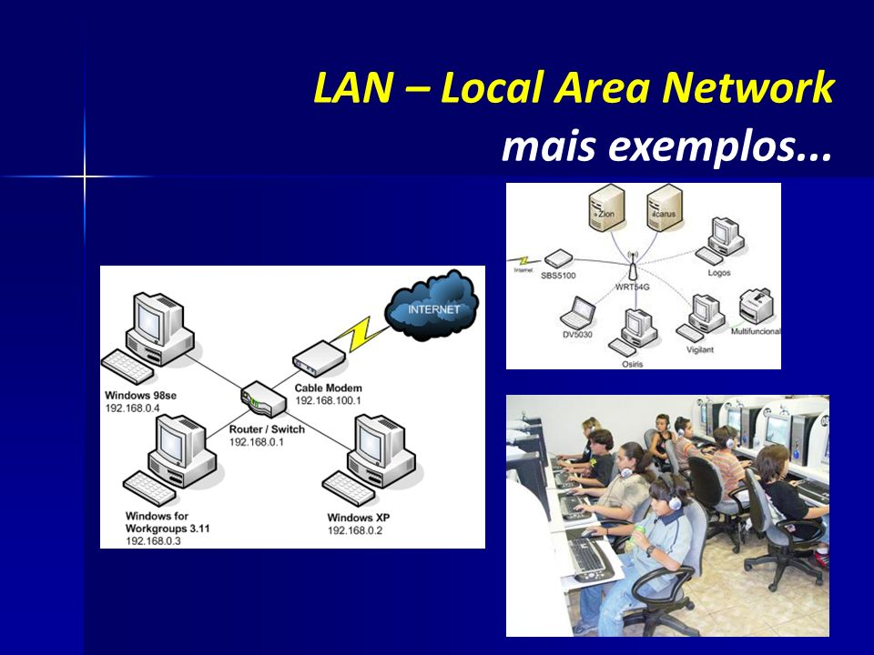 LAN – Local Area Network mais exemplos...