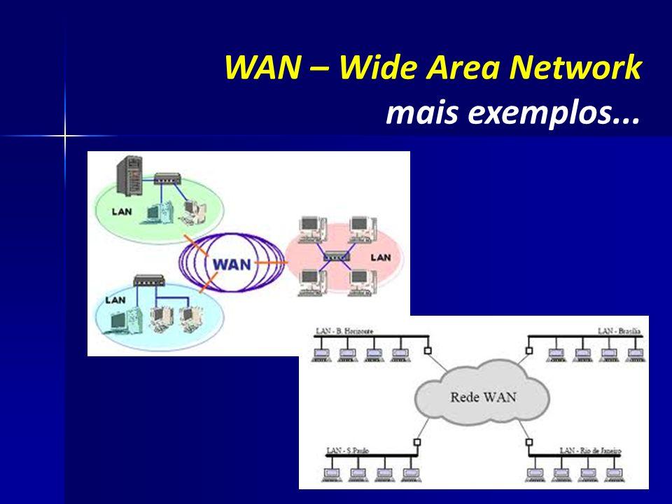 WAN – Wide Area Network mais exemplos...