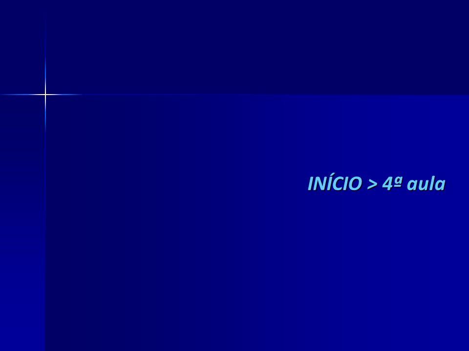 INÍCIO > 4ª aula