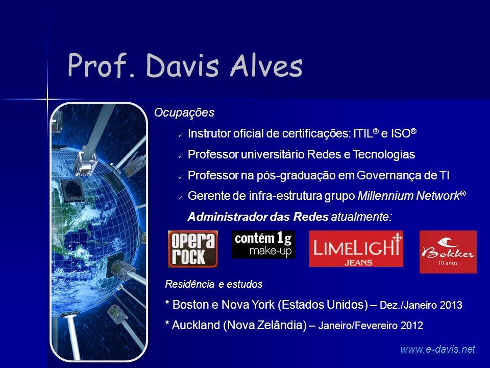 Ocupações Instrutor oficial de certificações: ITIL ® e ISO ® Professor universitário Redes e Tecnologias Professor na pós-graduação em Governança de T