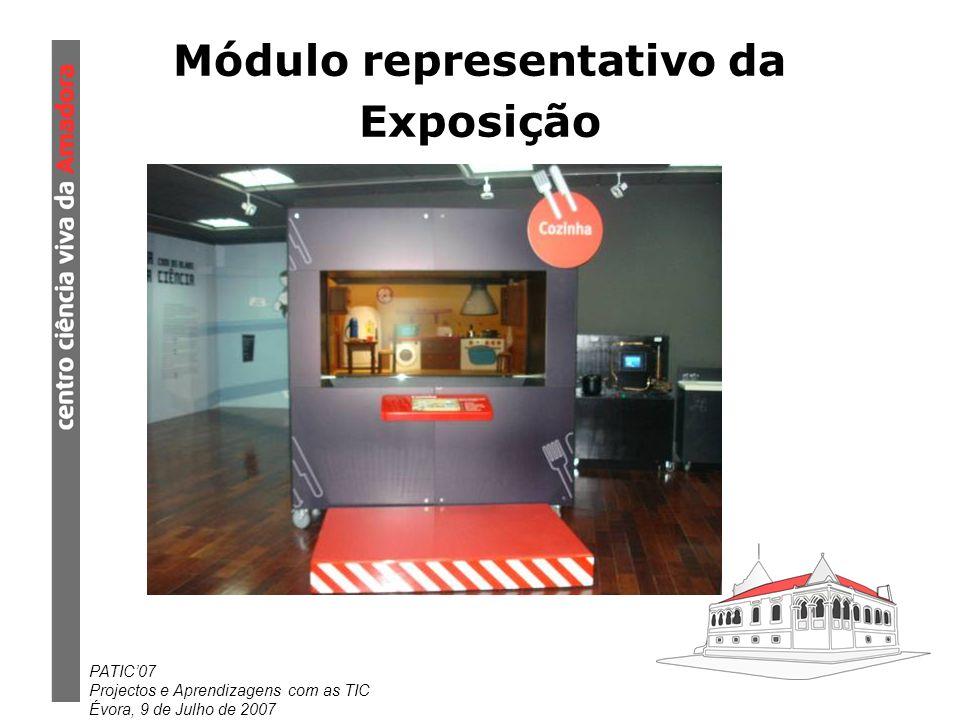 PATIC07 Projectos e Aprendizagens com as TIC Évora, 9 de Julho de 2007 Módulo representativo da Exposição