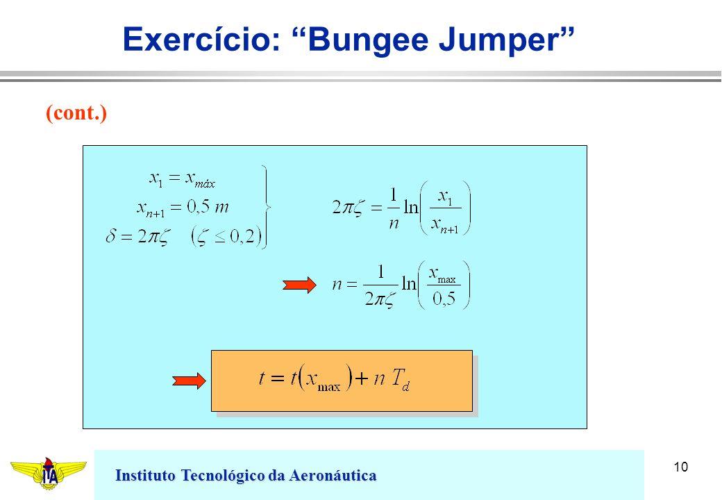 Instituto Tecnológico da Aeronáutica 10 Exercício: Bungee Jumper (cont.)