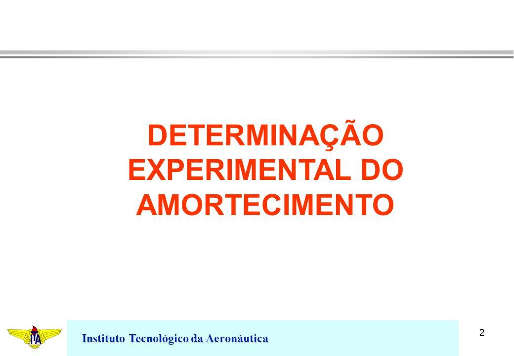Instituto Tecnológico da Aeronáutica 2 DETERMINAÇÃO EXPERIMENTAL DO AMORTECIMENTO