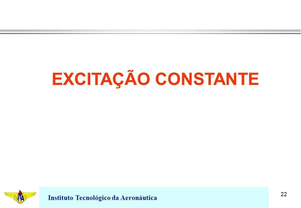 Instituto Tecnológico da Aeronáutica 22 EXCITAÇÃO CONSTANTE