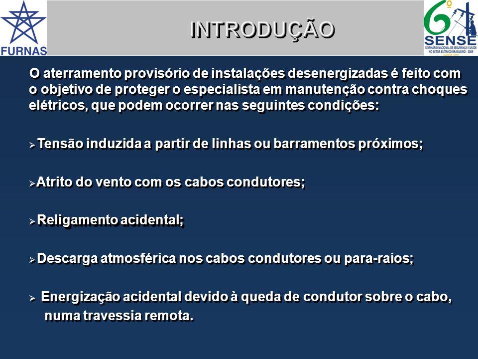 IDENTIFICAÇÃO DE CABOS DE ATERRAMENTO TEMPORÁRIO E BASTÕES